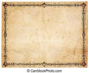 עתיק, ויקטוריני, נייר, גבול, טופס