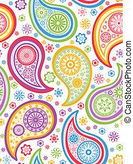 פאיסלאי, pattern., צבעוני, seamless