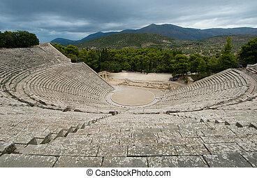 פאלופונאס, יוון, הריסות, אפידאאראס, תאטרון