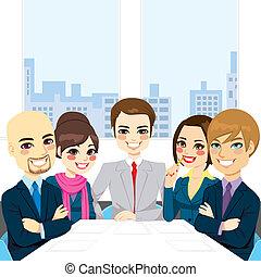 פגישה, אנשי עסק, משרד