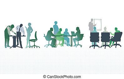פגישות, משרד