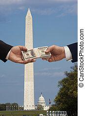 פוליטיקה, &, כסף