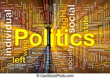 פוליטיקה, מבריק, מושג, רקע, סוציאלי
