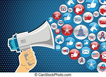 פוליטיקה, מסר, elections:, קידום, אותנו
