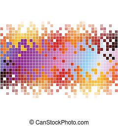 פיקסלים, תקציר, רקע, צבעוני, דיגיטלי