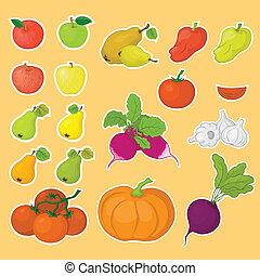 פירות, ירקות, קבע