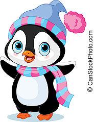 פנגווין, חורף, חמוד