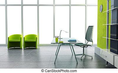 פנים של משרד, מודרני, 3d