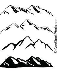 פסגות של הר, מושלג