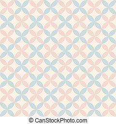 פסטל, וקטור, pattern., ראטרו, seamless