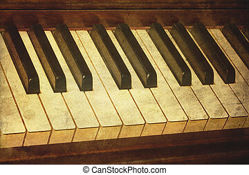 פסנתר, גראנג, ישן, מוסיקה, הכתם