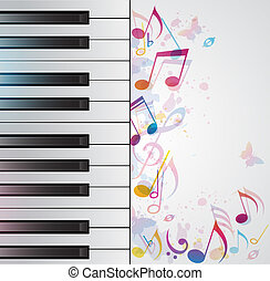 פסנתר, מוסיקה, רקע