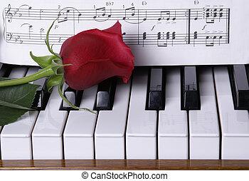פסנתר, עלוה אדום