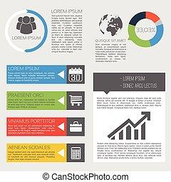 פעילות, עסק, infographics
