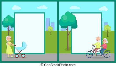 פראם, קשר, אופניים, גברת, בכור