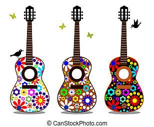 פרוח כוח, גיטרות