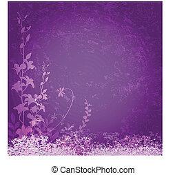 פרחים סגולים, רקע