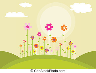 פרחים, צבעוני, קפוץ