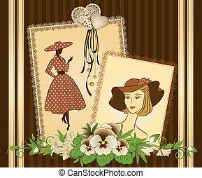 פרחים, רקע, girls.