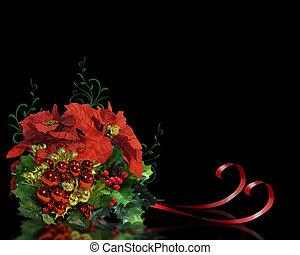פרחים, שחור, חג המולד