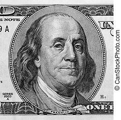 פרט, חשבן, דולר, מישהו, דמות, מאות