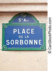 פריז, רחוב, סורבון, חתום