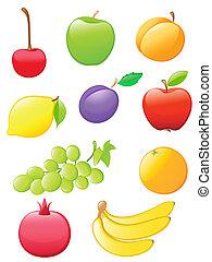 פרי, מבריק, איקונים