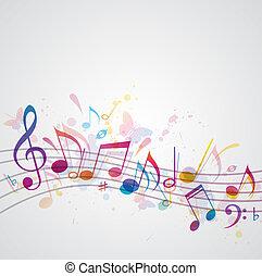פרפרים, מוסיקה, רקע