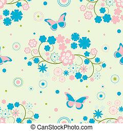 פרפרים, פרחים, רקע