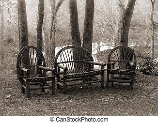 פשוט, כסאות, מדשאה