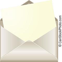 פתוח, מעטפה, כרטיס