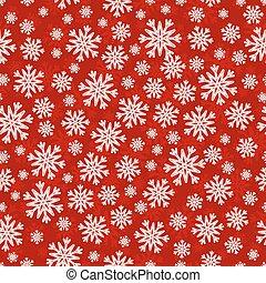 פתיתות שלג, תבנית, seamless, חג המולד לבן, אדום