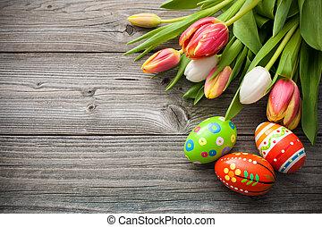צבעוניים, ביצים, חג הפסחה