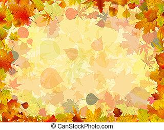 צבעוני, הסגר, יצור, leaves., הכנסה לכל מניה, סתו, 8