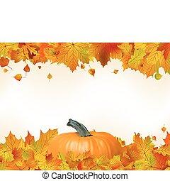 צבעוני, עוזב, הכנסה לכל מניה, pumpkin., סתו, 8