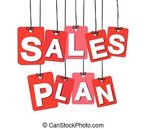 צבעוני, פתקים, -, מכירות, cardboard., וקטור, התכנן, לתלות
