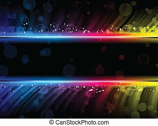 צבעוני, תקציר, דיסקוטק, רקע שחור, גלים