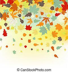 צבעוני, leaves., הכנסה לכל מניה, סתו, backround, 8, נפול
