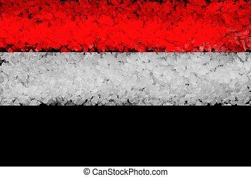 צבע, דגל לאומי, רקע שחור, סוריה, עבה