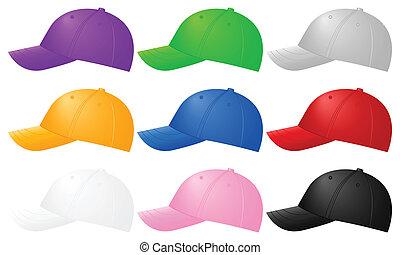צבע, כובעים של בייסבול