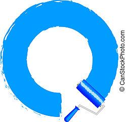 צבע כחול, הסגר, -, מוט גלילי