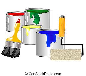 צבע, לצבוע כלים