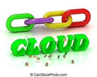 צבע, מואר, מכתבים, שלשל, חריתה, cloud-
