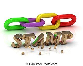 צבע, מואר, מכתבים, שלשל, חריתה, stamp-