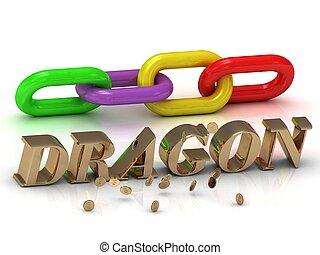 צבע, מואר, מכתבים, שלשל, dragon-, חריתה