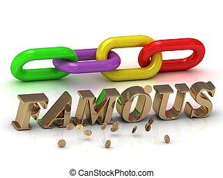 צבע, מואר, מכתבים, famous-, שלשל, חריתה