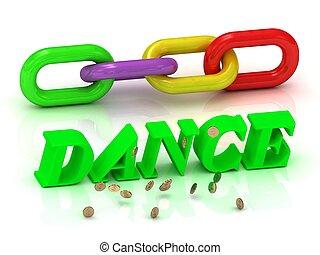 צבע, מואר, dance-, מכתבים, שלשל, חריתה