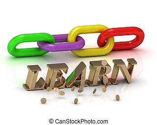 צבע, מואר, learn-, מכתבים, שלשל, חריתה