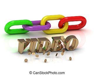 צבע, מואר, video-, מכתבים, שלשל, חריתה