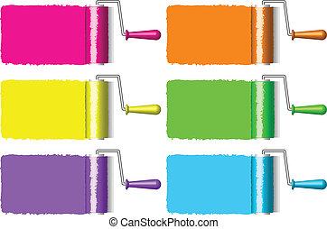 צבע מוטי גלילי, צבעוני